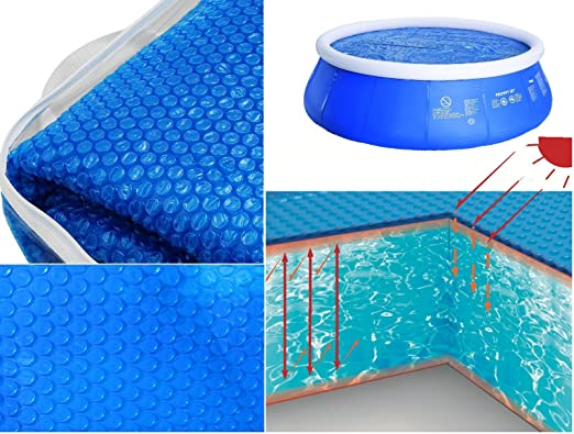 Jilong 8, 2 pies flotante Solar piscina cubierta redonda de ...