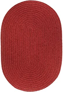 product image for Rhody Rug Woolux Wool Oval Braided Rug (8' x 11') - 8' x 11' Oval Red