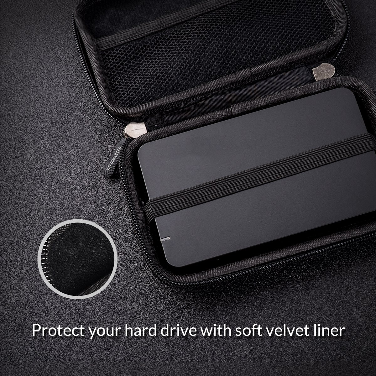 Yottamaster 2.5 Inch EVA Hard Drive Protection Bag HDD Protective Case Waterproof Scratchproof