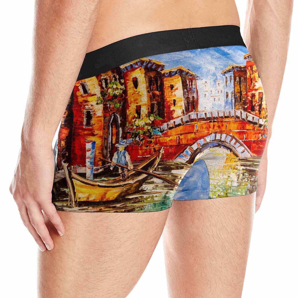 XS-3XL INTERESTPRINT Custom Mens Boxer Briefs Oil Painting View Venice Italy