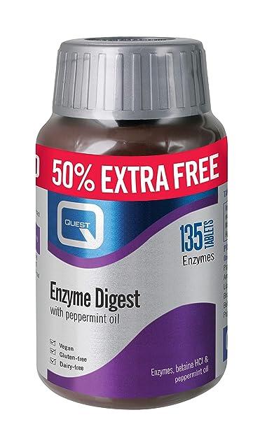 Quest Enzimas Digest Digestivo Tratamiento Pastillas -135 ...