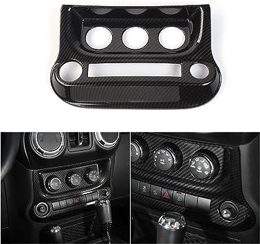Carbon Fiber Color Glove Box Handle Cover Trim For Jeep Grand Cherokee 2011-2018