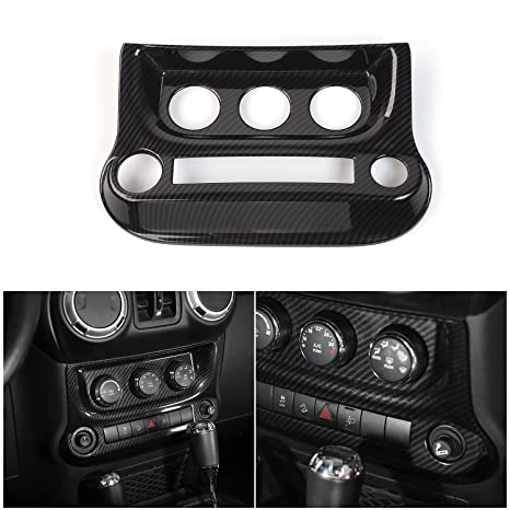 RT TCZ Interior Accessories Air Conditioning Switch Panel Cover Trim For Jeep  Wrangler 2011
