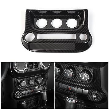 Carbon Fiber Interior Middle Console Panel Cover Trim For 2018 Jeep Wrangler JL