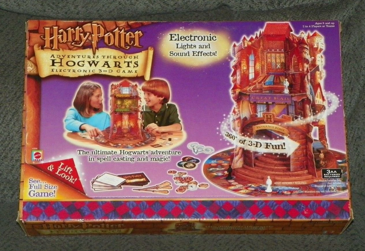 Harry Potter Adventures Through Hogwarts Electronic 3-d Game Mattel