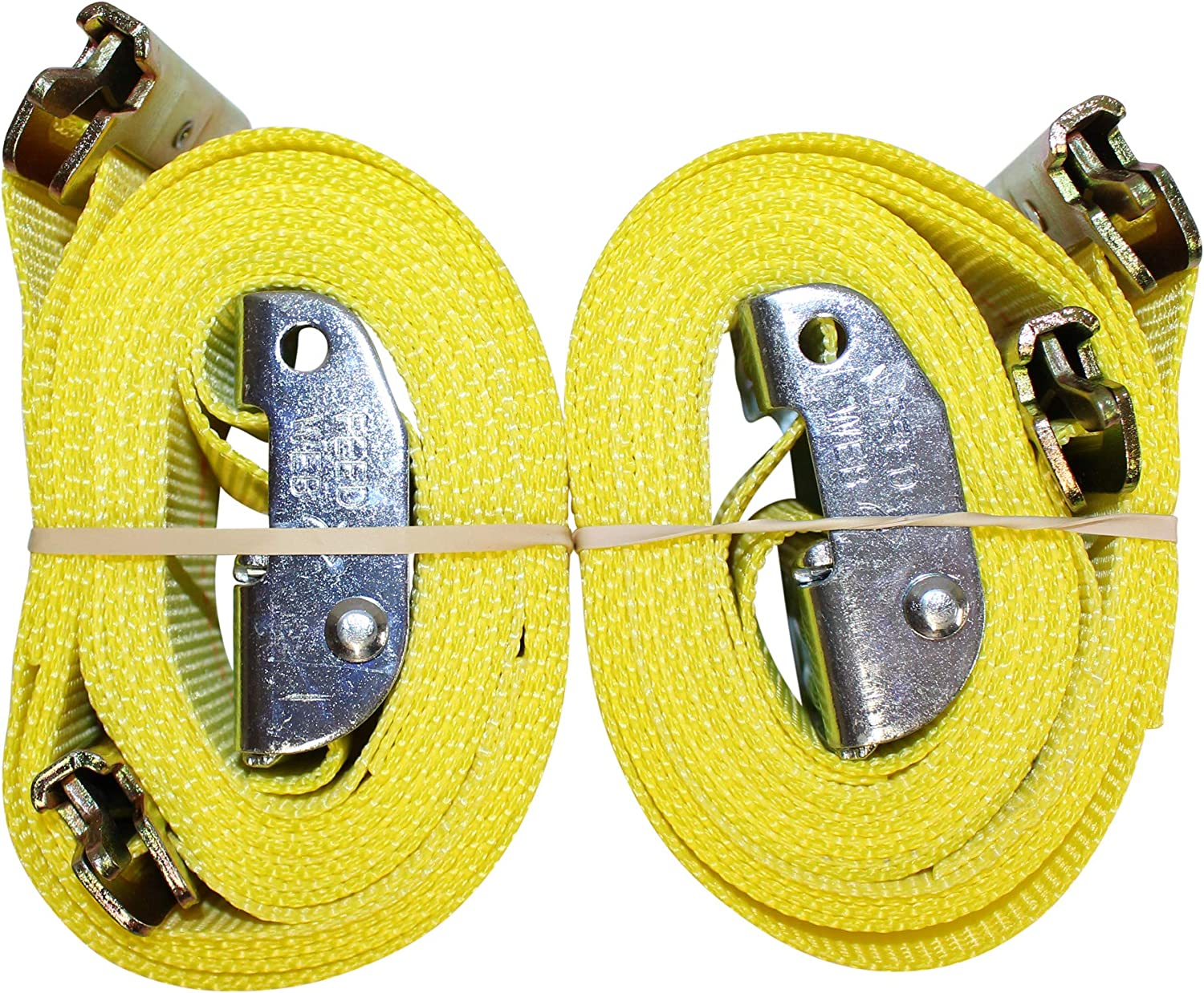 More ETrack Lashing Tie Down for Loading Truck Bed SGT KNOTS Flatbed 2 in x 12 ft Strap with Cam - Yellow E Track Heavy Duty Adjustable Cam Buckle Straps E-Track Ratcheting Cargo Strap
