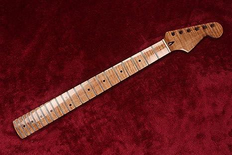 Cuello de guitarra eléctrica de arce con llama en pintura Nitro ...