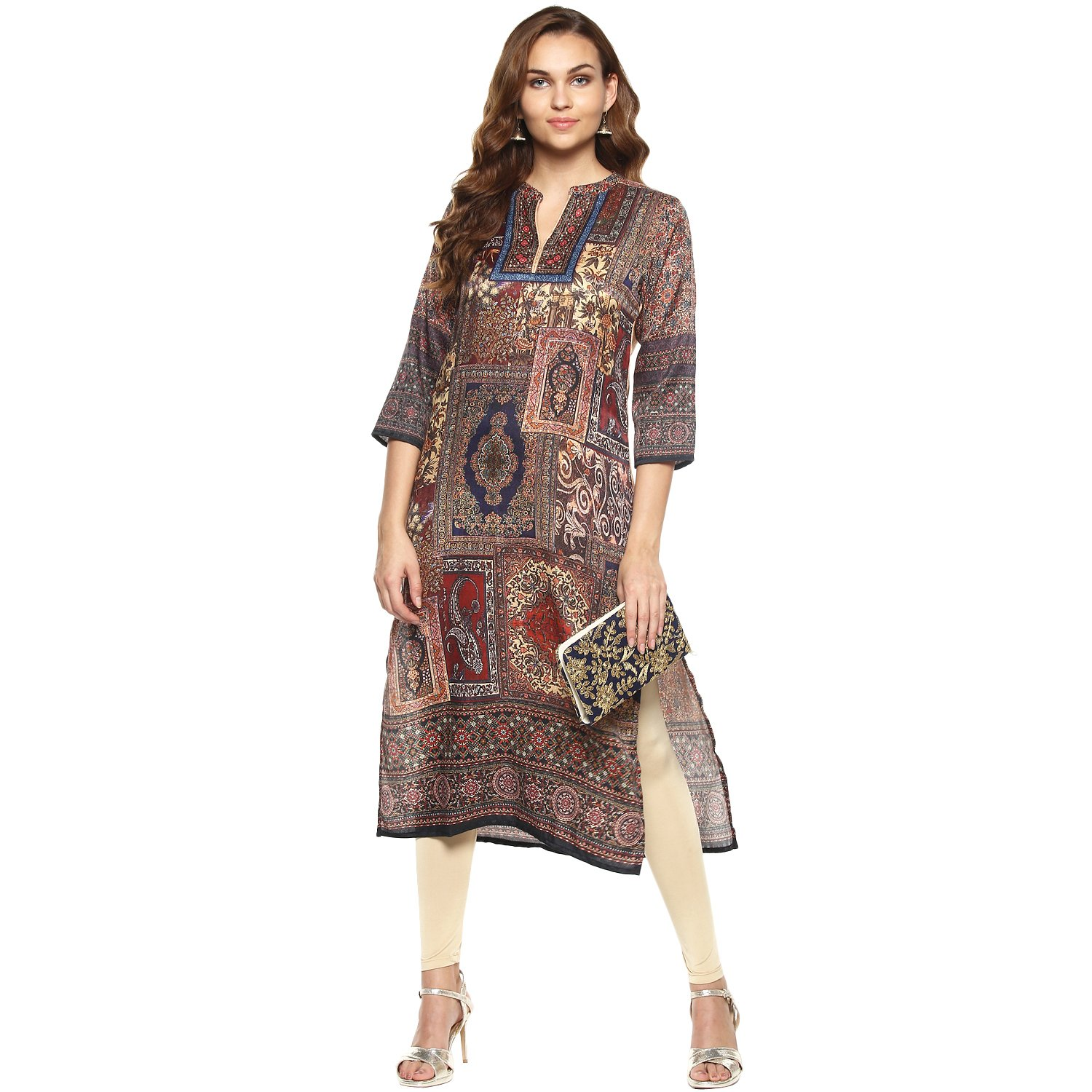 Lagi Kurtis Ethnic Women Kurta Kurti Tunic Digital Print Top Dress Casual Wear New Launch by Multicolored