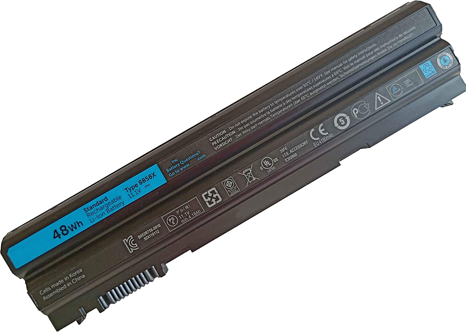 Dentsing 11.1V 48Wh/4400mAh 6-Cells 8858X Laptop Battery Compatible with Dell Latitude E5420 E5430 E5530 E6420 E6430 Inspiron 4420 5420 7420 7520 14R 15R 17R Series Notebook T54FJ M5Y0X N3X1D 911MD