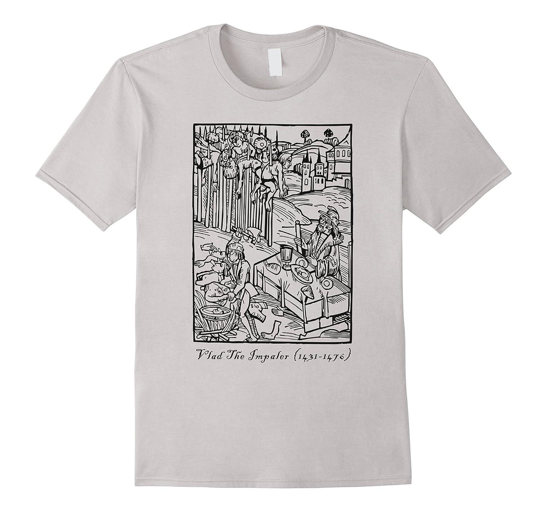 Vlad The Impaler Tepes Dracula T-Shirt White Grey Horror Men-FL