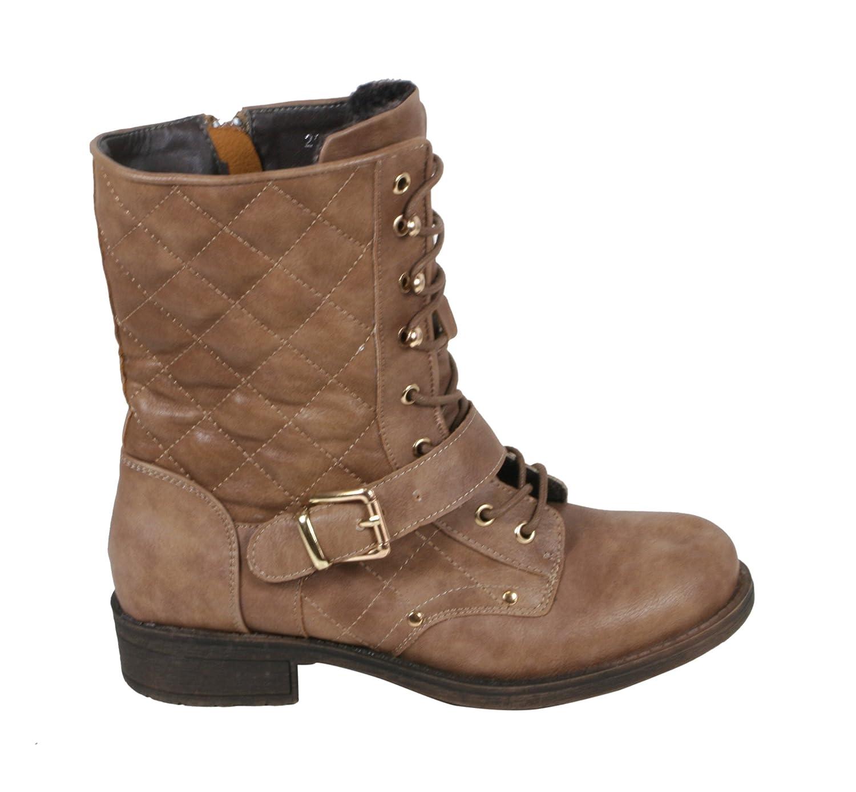 Rana Damen - Karonaht Damen Rana SchnürStiefel Combat Stiefel Stiefeletten mit Blockabsatz 36 37 38 39 40 41 - 15d8cd
