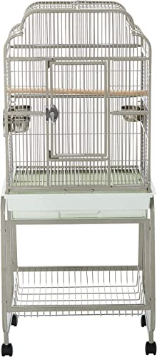 A E Cage 782217 Platinum Open Victorian Top with Plastic Base Bird Cage, 22 x 17