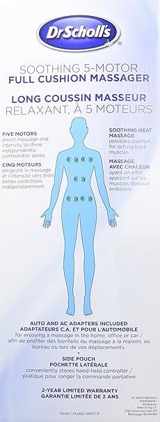 Amazon.com: Cojín masajeador suave, completo, con 5 ...