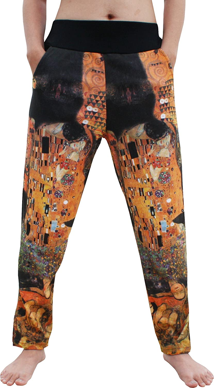 RaanPahMuang 4//5 Length Spandex Pants Gustav Klimt The Kiss Collage