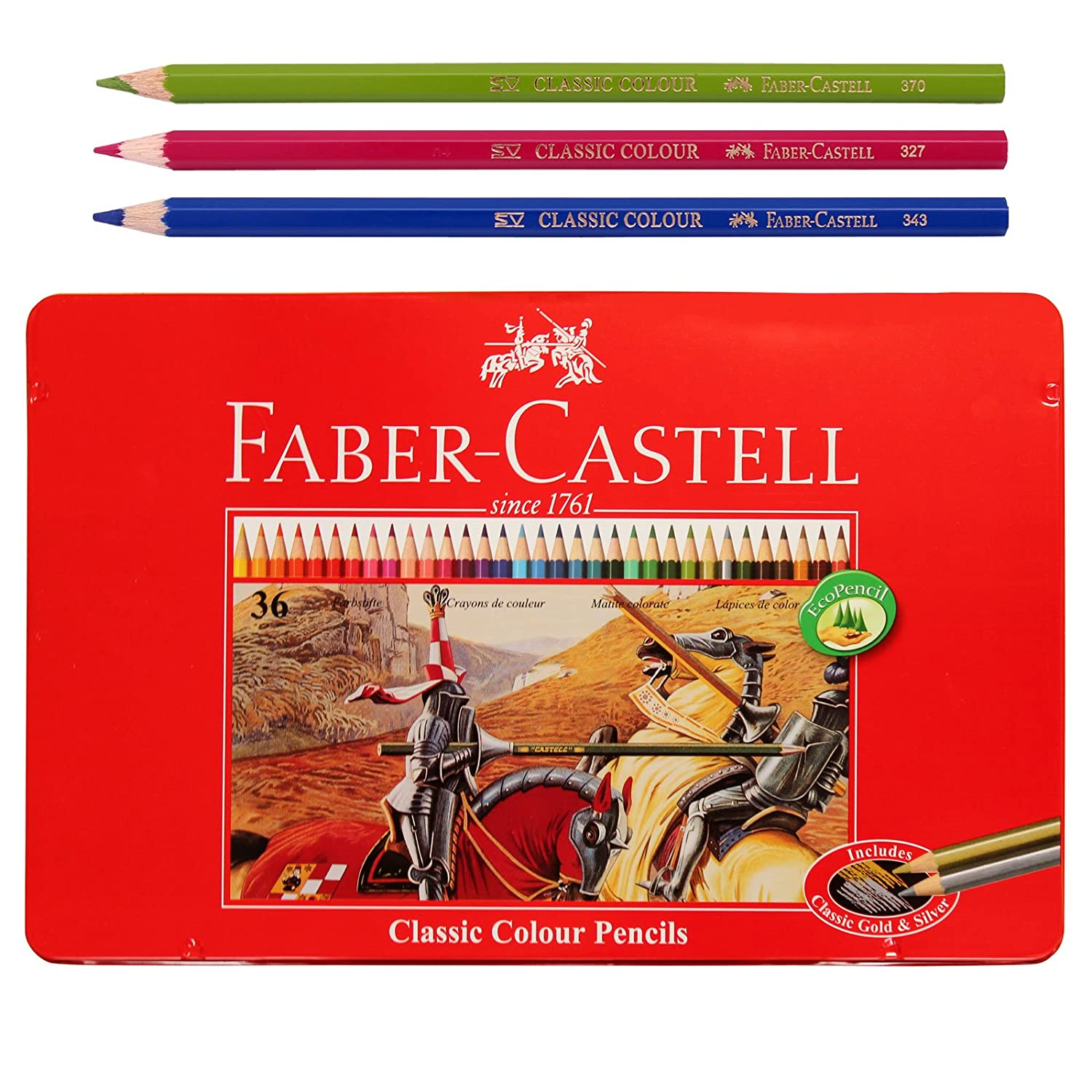 Amazon Faber Castell Classic Color Pencils Tin Case 36 School Eco Pencil For Professionals Include Gold Office Products