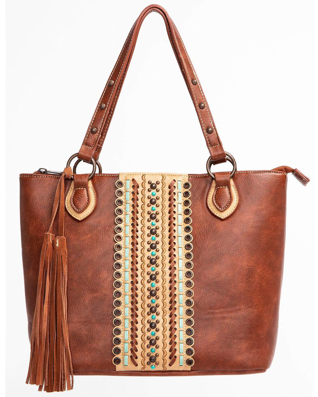 Blazin Roxx Women's Laney Tote Bag, Brown, OS