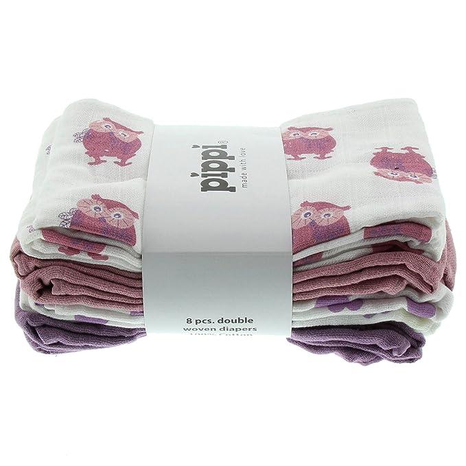 Old Rose 3-Pack Pippi Scarf Bib Ao-Printed Taglia unica Bimbo Pink