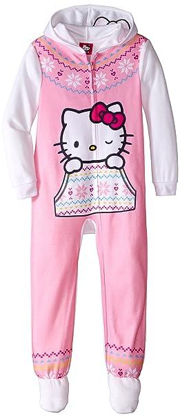 a24983258 Amazon.com  Hello Kitty Big Girls  Hooded Fleece Blanket Sleeper ...