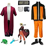 LYLAS Naruto Uzumaki Naruto Full Set Cosplay Adult Size Costume