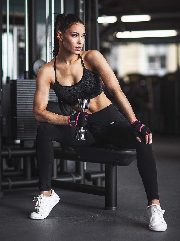 Bodybuilding Fitgriff/® Trainingshandschuhe f/ür Damen und Herren Fitness Handschuhe ohne Handgelenkst/ütze f/ür Krafttraining Gym Workout Gloves Kraftsport /& Crossfit Training