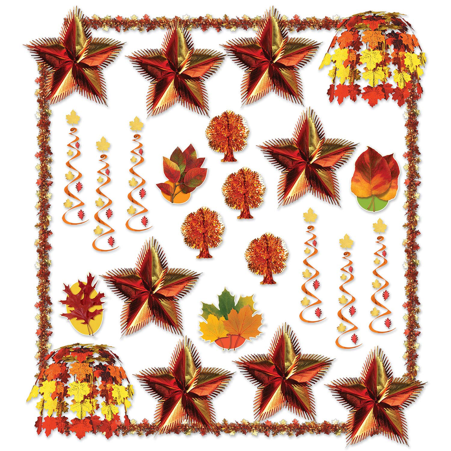 Beistle 1-Pack 28 Count Decorative Fall Reflections Decorating Kit