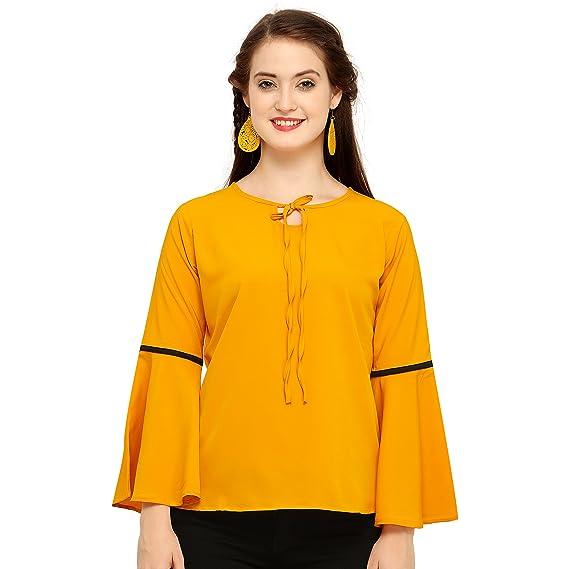 63d6a13953065b J B Fashion Women s Plain Top (Seasonal Fashion Yellow Small)