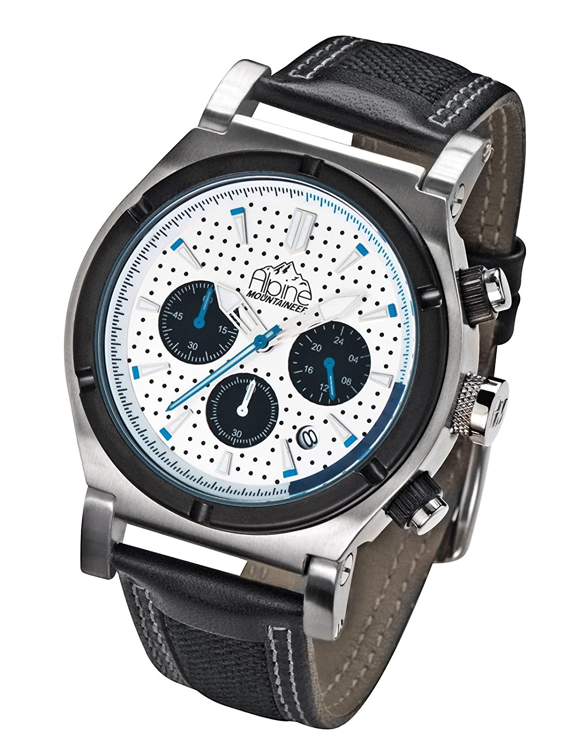 Alpine Mountaineer Liskamm Shiny Glacier Chronograph fÜr Ihn Design-Highlight