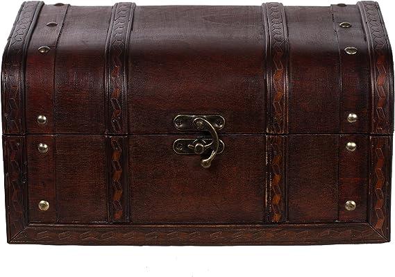 Baúl HD 86002 – Baúl, Cofre baúl, Cofre del Tesoro, madera, caja ...