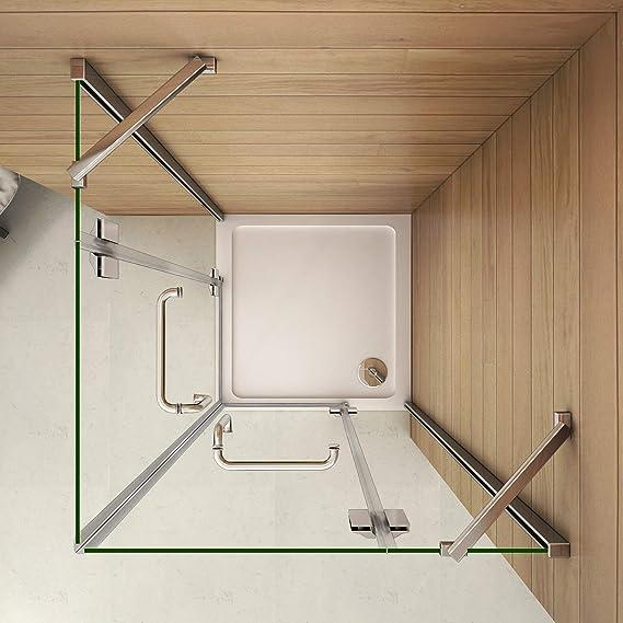 Mamparas Cabina de Ducha cristal 8mm Puerta Abatible de Baño 80x120x190cm: Amazon.es: Bricolaje y herramientas