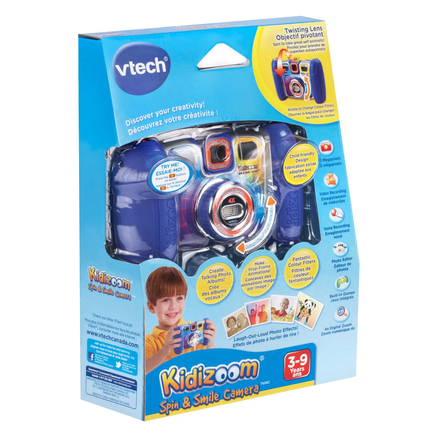 VTech Kidizoom Spin and Smile Camera, Blue by VTech (Image #1)