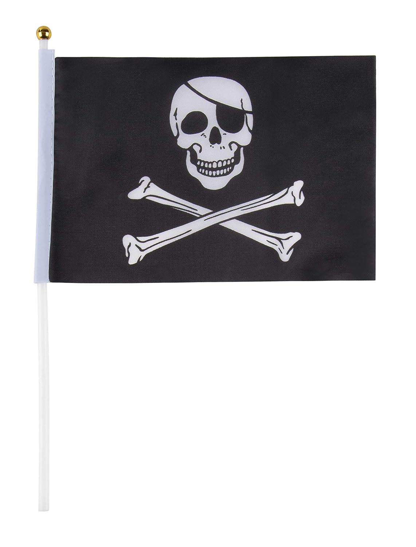 PIRATE BANDANA X2 TABLE FLAG SET 2 flags plus GOLDEN BASE PIRATES