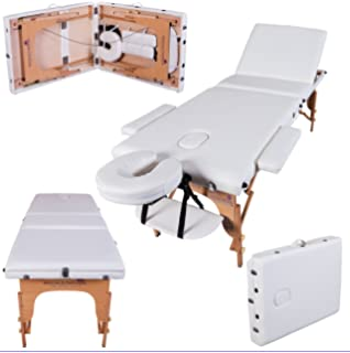 Massage Imperial® Deluxe Professional Ivory White 3-Section Portable Massage  Table Couch Bed Reiki