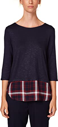 Esprit 088ee1k011 Camisa Manga Larga, Azul (Navy 400), Small para Mujer: Amazon.es: Ropa y accesorios