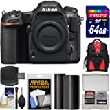 Nikon D500 Wi-Fi 4K Digital SLR Camera Body with 64GB Card + Backpack + Battery + Kit
