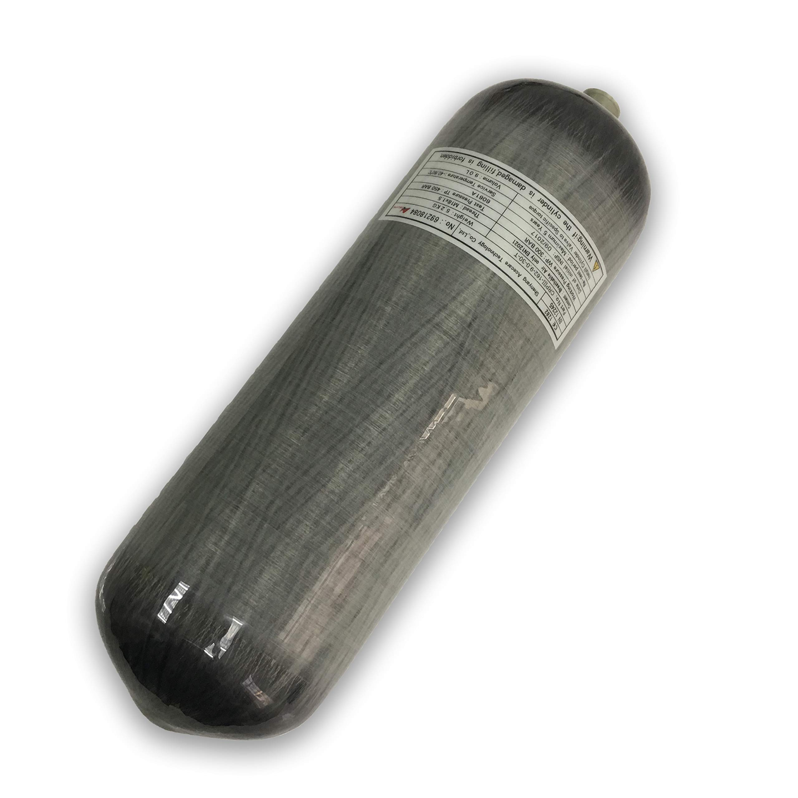 Acecare 9L 4500Psi 300bar HPA Carbon Fiber Cylinder,Scuba Diving Tanks,PCP Fill,refile Paintball Tanks by Acecare