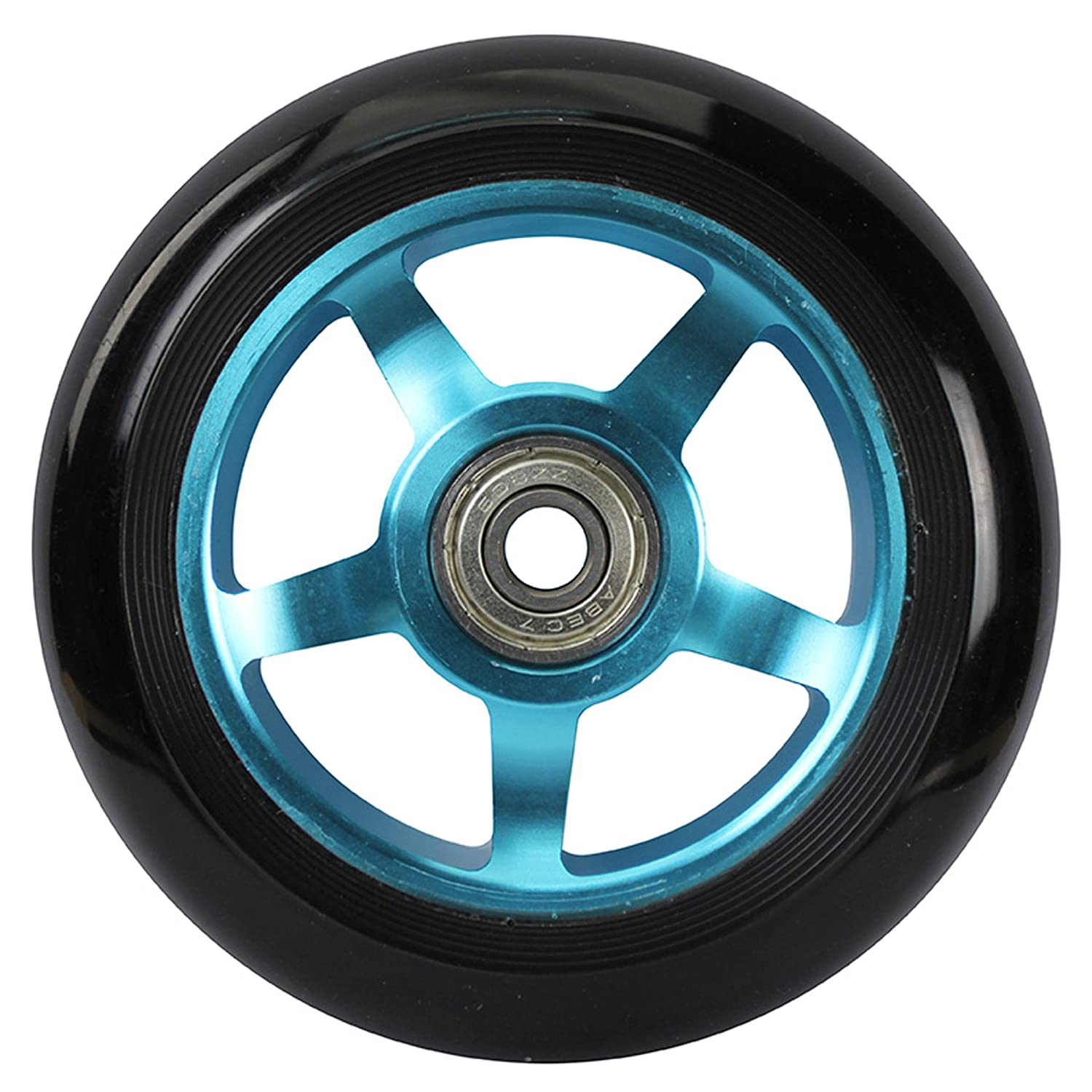 213 scooterwheel Kit 2 Ruedas de Patinete Buje ALU Unisex, Azul, 100 mm