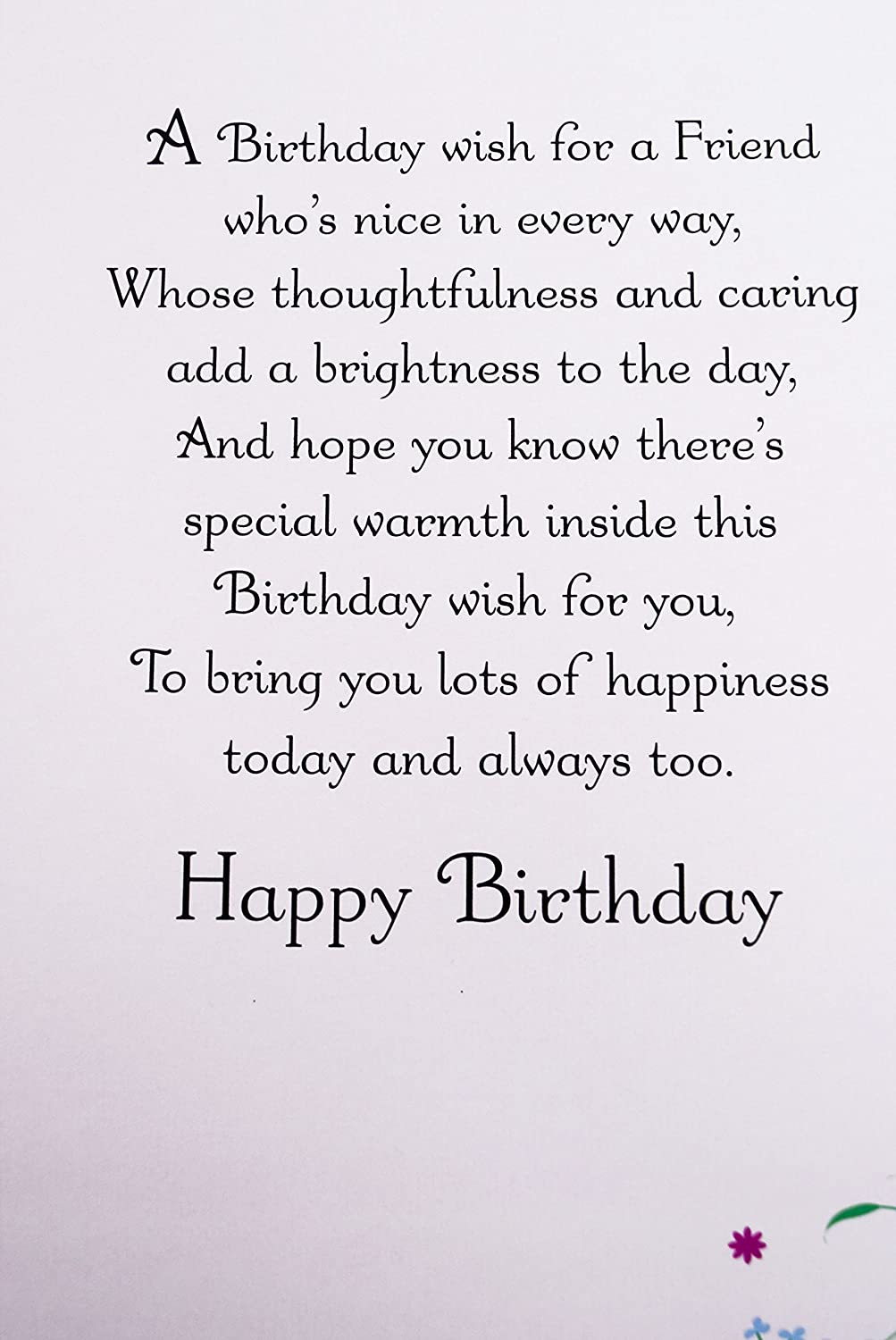 happy birthday card for special friend her girls female womens happy birthday card for special friend her girls female womens verse pink card amazon co uk office products