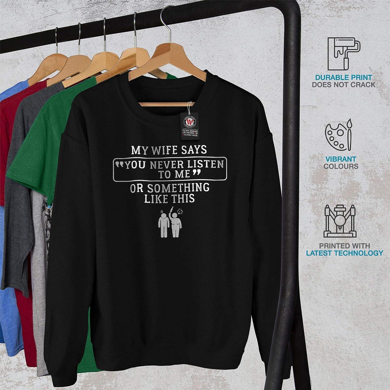 Sarcsatic Text Casual Jumper wellcoda Waife Marriage Mens Sweatshirt