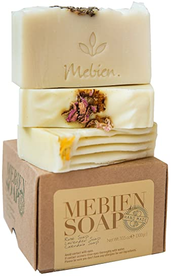 Mebien Organic Vegan Soap Bar - Homemade Natural antibacterial Luxury handmade, gifts for women,