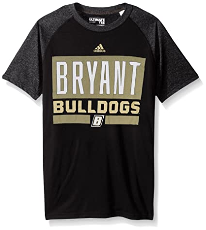 adidas NCAA Bryant Bulldogs Adult Men Linear Stacked Ultimate Raglan S Tee 8ce6bf78ded