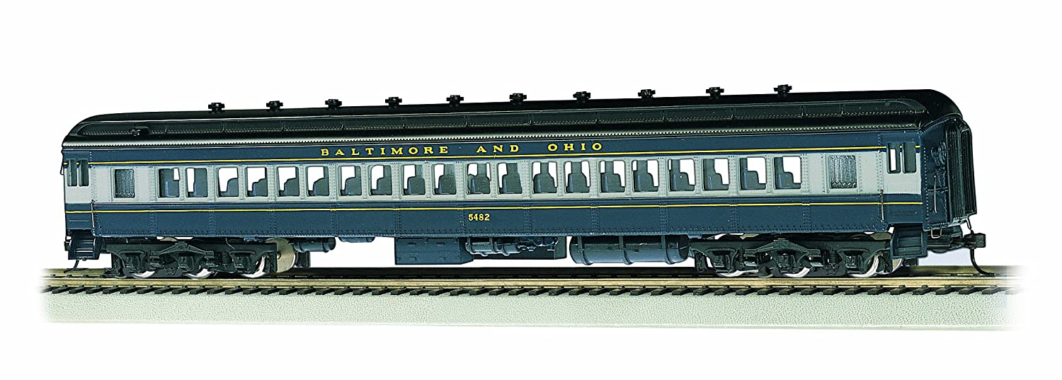 Bachmann Industries B and O #5482 blue 72' Heavyweight Coach with Lighted Interior 13702