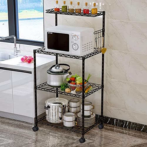 LENTIA 4-Tier Baker s Rack Microwave Stand Kitchen Oven Rack