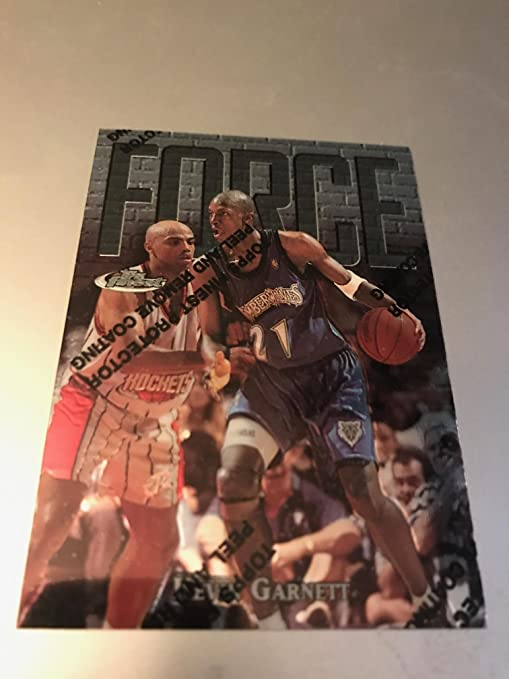 9b6a24ea9d3 Amazon.com: 1997-1998 NBA Topps Finest Kevin Garnett UNCOMMON Force Card  w/protector #136 Theme FF25, Minnesota Timberwolves, New Jersey Nets, ...