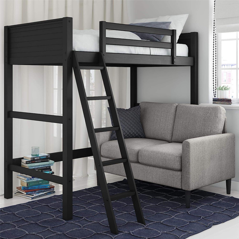 Dorel Living Moon Bay Loft, Black bunk bed