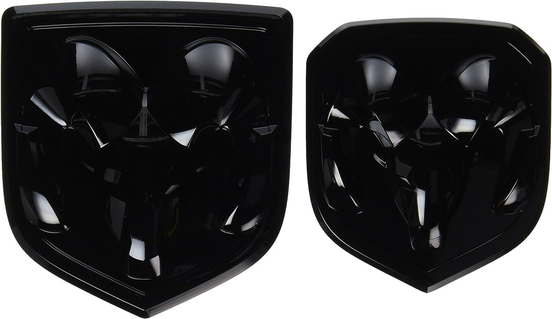 3D Golssy Black RAM Head Mopar Grille Emblem for Dodge Ram 1500 2500 3500 2015