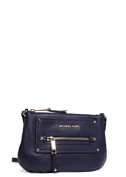 8c81b908b4d1 Michael Kors Gilmore Pebbled Crossbody MIDNIGHT: Handbags: Amazon.com