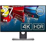 Dell 4Kモニター 27インチ 広視野角 フレームレス HDR IPS非光沢 DP,HDMI 高さ調整 回転 3年保証 U2718QM
