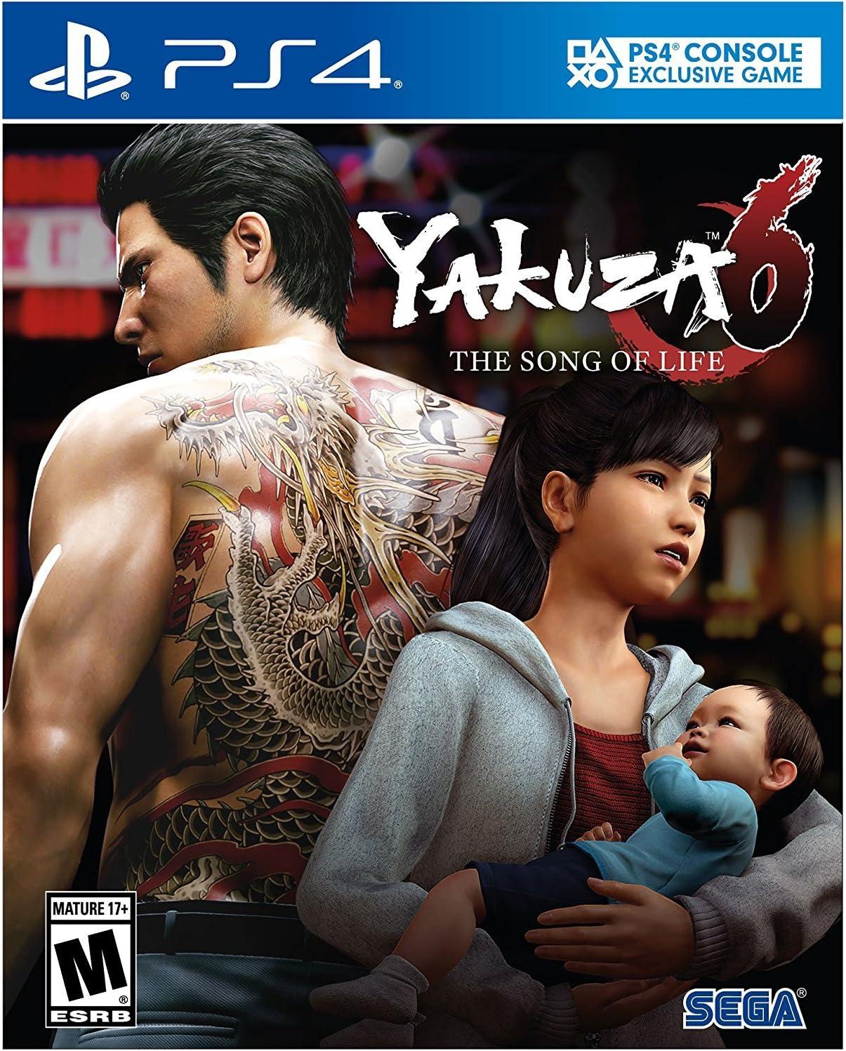 Amazon com: Yakuza 6: The Song of Life - PlayStation 4 Standard