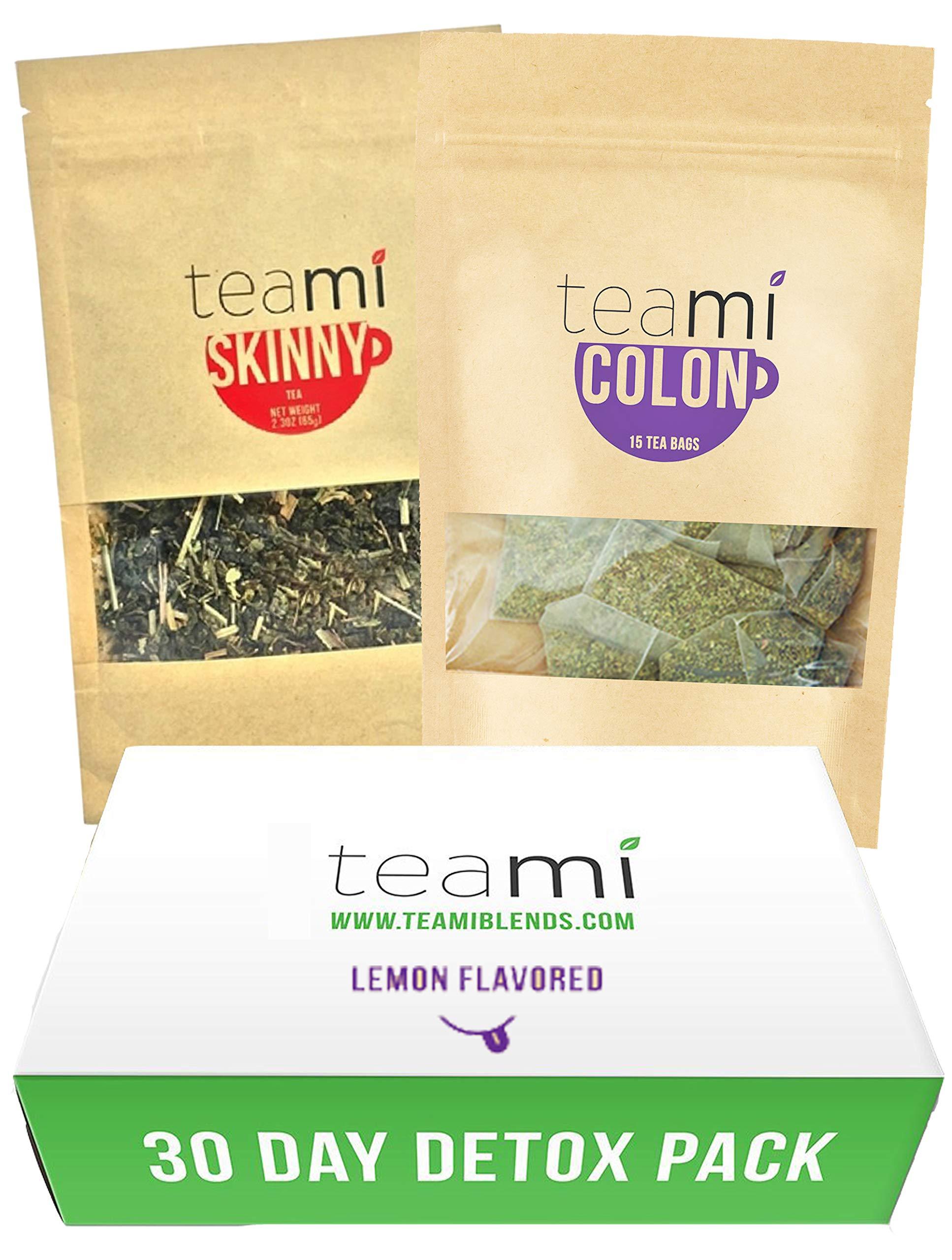 Teami® 30-Day Detox Tea Pack: All-Natural Teatox Kit with Teami Skinny & Teami Colon Cleanse Loose Leaf Herbal Teas (Lemon) by Teami