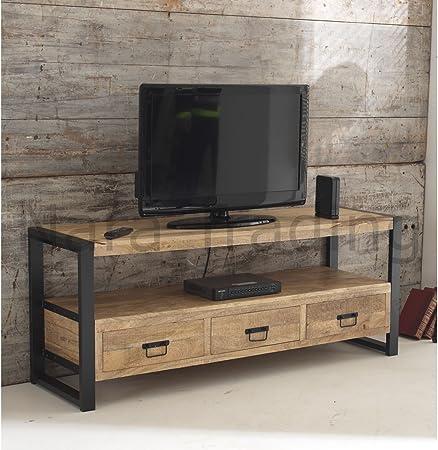 Harbour Mueble de Madera Reciclado para Televisión (Tamaño Grande): Amazon.es: Hogar